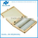 free selected 100pc/Box prepared microscope slides prepared microscope slide sets