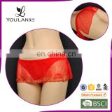 Best Brocade Red Mature Women Hot Sexy Thong Panty Models