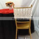 New Arrival Luxury Fashion White Chair Band Rose Chair Sashes