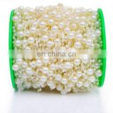 DIY Fish Line Chain Beads ABS Imitation Pearl Strands Wedding Bridal Hand Bouquet Decoration