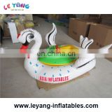 Kids electric bumper boats / commercial inflatable swan bumper boat for amusement park