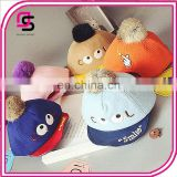 Corduroy baby cap fashion cartoon baby hats with bobbles