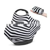 multi stretchy stripe breastfeeding nursing cover scarf baby infant car seat carrier