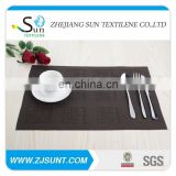 Dark brown grid PVC placemat made in China