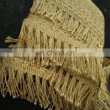 metallic fringe for curtain decorative / fringe for curtain / Good Design Home Textile Tassel Fringe For Curtain