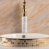 Round Golden Pocelain bathroom Taichung Wash Basin