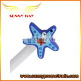 hot selling cute starfish soft pvc pen caps