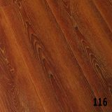 12mm AC5 Walnut Click Brown Laminate Flooring V-Groove