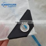 Reinforced hdpe woven fabric plastic rain cover clear plastic tarp for cherry tree or greenhouse