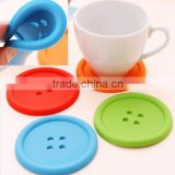 Beauty Silicone Coffee Placemat Button Coaster Cup Glass Beverage Holder Pad Mat