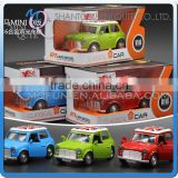 Mini Qute 1:36 kids Die Cast pull back alloy music light vehicle diecast model car model electronic educational toy NO.MQ 808L