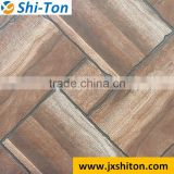 2016 fozhou most popular unique design matte finished wood grain flower pattern glazed rustic porcelain floor tiles