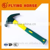 Green rubber fiberglass handle hammer household hand tools / claw hammer