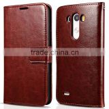 NEW Vintage Italy Premium Luxury Soft PU Leather Wallet Case for LG G3 Cover Leather Back Cover