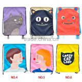 Cute design kids School travel Bag string bag storage bag