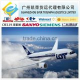 Cheap air freight rate from China to DEL,BLR,BOM,CCU,MAA,HYD India