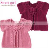 japanese wholesale product high quality children garments fashion cute kids clothes infant baby wear knitted cardigan for girls