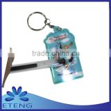 pvc led flashlight with key chain
