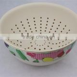 hot selling bamboo ware bowl with sieve,stainless steel colander