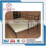 Folding spring mattress for metal bed