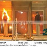Jinyao 8-15mm 2 hour 3 hour Fire Rated Glass Door