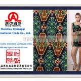100% cotton fabric china textiles big pattern print for beautiful one-piece dress