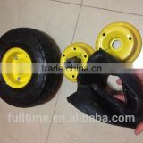 High Quality manufacturer pneumatic garden tires rubber wheelbarrow tire and inner tube 4.10 / 3.50 4