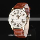 XR1005 2015 Stainless Steel Case Geneva Leather Japan Mov't Watches Wholesale For Men
