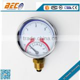Professional manufacturer compound painted steel case Thermometer pressure gauge