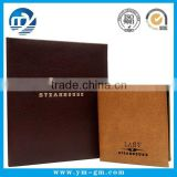 star hotel menu booklet cover / leather menu holder for restaurant / hotel restaurant supplies