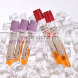 PET/Glass medical disposable sterile vacuum blood collection tube with CE&ISO approval/plain tube