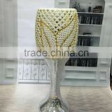 good quality home decorative resin vase with pearl and cheap price