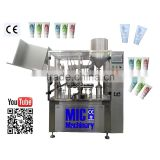 Micmachinery 304 Stainless Steel material hand cream filling sealing machine automatic tube filling sealing machine
