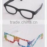 Popular hot selling custom branded colorful foldable plastic /paper passive circular polarized 3d glasses