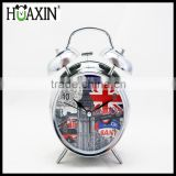Metal quartz analog fashion paint 4 inch antique clock / Silent lazy alarm clock