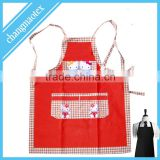 checked design print100% cotton kitchen apron