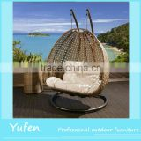 luxury outdoor double hanging swing chair