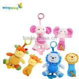 Custom made plush toy baby rattle kawaii creative hanging toys