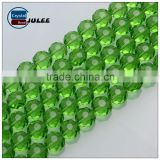 Alibaba.com reflective glass beads faceted 6mm green color wholesale beads new arrival decorating beads for lamp shade