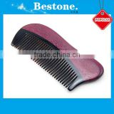 Personal care violet wooden beard OEM ox Horn Comb