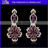 Cheap Blue Crystal Indian Style Drop Earrings Jewelry Wholesale