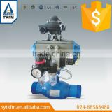 TKFM factory directly sale gas oil station pipeline use 2 inch pneumatic actuator ball valve