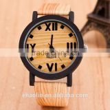 Wooden Style women men watches fashion wristwatches leather strap quartz watches analog quartz clocks
