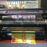 1.8m Large format Digital Fabric Flag banner printers with dual DX5113 heads with automatic heating sytem