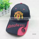 Leisure fish style football club embroidery Baseball Sport Caps in orange color                                                                         Quality Choice