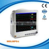 ISO, CE Proved 15 Inch Patient Monitor Device-MSLMP04W Brightness Clinical Patient Monitor( Color TFT Multi-Parameter)