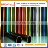 Different color small size anodized aluminum round/ elliptical /square hollow pipe and aluminum extruded alloy tube