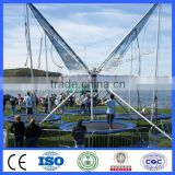 Popular and cheap amusement equipment for kids bungee trampoline