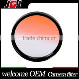Camera Filter Orange Graduated Color Lens Filter 55mm For Nikon D5300 For Canon 5D For Fuji X-M1