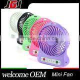 Desktop Mini Electric Palm Leaf Fan USB Battery Powered Portable 3 Speeds With LED Light